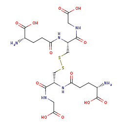 Picture of glutathione disulfide (click for magnification)