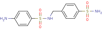 Picture of 4-amino-N-(4-sulfamoylbenzyl)benzenesulfonamide (click for magnification)