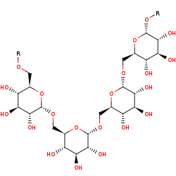 Picture of [(1->6)-alpha-D-glucosyl]n+1 (click for magnification)