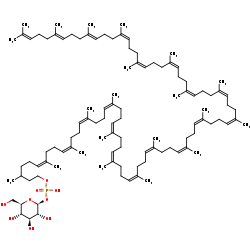 Picture of dolichyl beta-D-glucosyl phosphate (click for magnification)