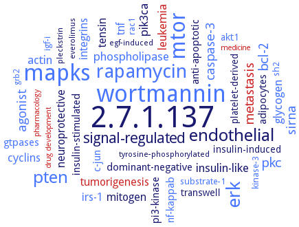 BRENDA - Information on EC 2 7 1 137 - phosphatidylinositol 3-kinase