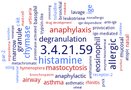 BRENDA - Information on EC 3 4 21 59 - Tryptase and Organism(s) Homo